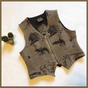 Jackets & Blazers - Vintage Tribal Desert Hippie Zip Up Vest